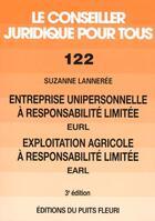 Couverture du livre « Entreprise Unipersonnelle A Responsabilite Limitee Eurl, Exploitation A Responsabilite Limitee Earl. » de Lanneree Suzann aux éditions Puits Fleuri