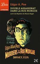 Couverture du livre « Double assassinat dans la rue Morgue » de Edgar Allan Poe aux éditions J'ai Lu