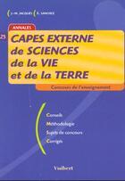 Couverture du livre « Le Capes N.25 ; Le Capes De Sciences De La Vie Et De La Terre » de Jacques aux éditions Vuibert