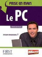 Couverture du livre « Prise en main du PC » de David Daniel-Jean aux éditions First Interactive