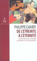 Couverture du livre « De l'etreinte a l'eternite » de Philippe Camby aux éditions Relie