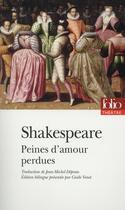 Couverture du livre « Peines d'amour perdues » de William Shakespeare aux éditions Gallimard