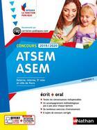 Couverture du livre « Concours ATSEM ASEM ; écrit + oral ; catégorie C (édition 2019/2020) » de Collectif aux éditions Nathan