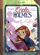 Couverture du livre « Les enquêtes d'Enola Holmes T.5 ; l'énigme du message perdu » de Serena Blasco aux éditions Jungle
