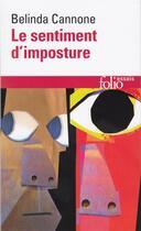 Couverture du livre « Le sentiment d'imposture » de Belinda Cannone aux éditions Gallimard
