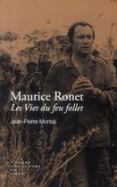 Couverture du livre « Maurice Ronet » de Jean-Pierre Montal aux éditions Pierre-guillaume De Roux