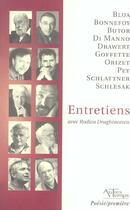 Couverture du livre « Entretiens » de Draghincescu aux éditions Autres Temps