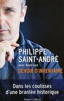 Couverture du livre « Devoir d'inventaire » de Alain Gex et Philippe Saint-Andre aux éditions Robert Laffont