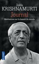 Couverture du livre « Journal » de Jiddu Krishnamurti aux éditions Pocket