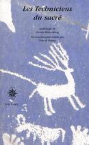 Couverture du livre « Les techniciens du sacré » de Rothenberg Jero aux éditions Corti