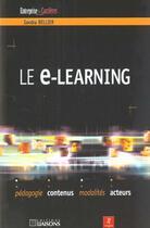 Couverture du livre « E-Learning » de Sandra Bellier aux éditions Liaisons