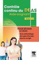 Couverture du livre « Contrôle continu du DEAS ; modules 1 à 8 (2e édition) » de Geracfas aux éditions Elsevier-masson