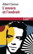 Couverture du livre « L'envers et l'endroit » de Albert Camus aux éditions Gallimard