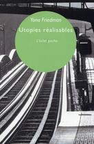 Couverture du livre « Utopies réalisables » de Yona Friedman aux éditions Eclat