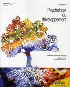 Couverture du livre « Psychologie du developpement » de Strassen Berger K. aux éditions Modulo