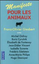 Couverture du livre « Manifeste pour les animaux » de Franz-Olivier Giesbert aux éditions Pocket
