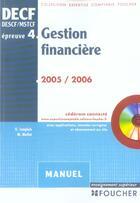 Couverture du livre « GESTION FINANCIERE ; EPREUVE 4 » de M Mollet et G Langlois aux éditions Foucher