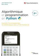 Couverture du livre « Algorithmique et programmation en Python » de Jean-Baptiste Civet et Boris Hanus aux éditions Eyrolles