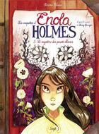 Couverture du livre « Les enquêtes d'Enola Holmes T.3 ; le mystère des pavots blancs » de Serena Blasco aux éditions Jungle
