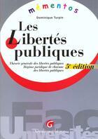Couverture du livre « Memento libertes publiques » de Dominique Turpin aux éditions Gualino