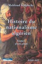 Couverture du livre « Pack histoire du nationalisme algerien tome 1 1919-1939 tome 2 1939-1951 » de Mahfoud Kaddache aux éditions Paris-mediterranee