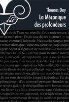 Couverture du livre « La mécanique des profondeurs » de Thomas Day aux éditions Le Belial