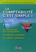 Couverture du livre « La comptabilité, c'est simple ! (édition 2009) » de Faure aux éditions Chiron