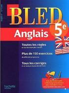 Couverture du livre « CAHIERS BLED ; anglais ; 5ème » de Collectif aux éditions Hachette Education