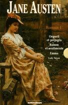 Couverture du livre « Coffret Jane Austen t.1 : orgueil et préjugés ; raisons et sentiments ; Emma ; Lady Susan » de Jane Austen aux éditions Omnibus