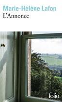 Couverture du livre « L'annonce » de Marie-Helene Lafon aux éditions Gallimard