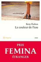 Couverture du livre « La couleur de l'eau » de Kerry Hudson aux éditions Philippe Rey