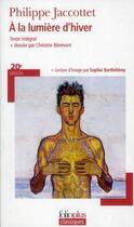 Couverture du livre « À la lumière d'hiver » de Philippe Jaccottet aux éditions Gallimard