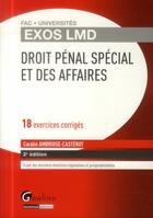 Couverture du livre « Droit pénal spécial et des affaires (2e édition) » de Coralie Ambroise-Casterot aux éditions Gualino