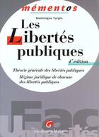 Couverture du livre « Libertes publiques » de Dominique Turpin aux éditions Gualino
