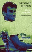 Couverture du livre « Poésie complète » de Georges Oppen aux éditions Corti