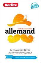 Couverture du livre « Allemand ; guide de conversation » de Collectif aux éditions Berlitz