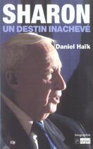 Couverture du livre « Sharon, un destin inacheve » de Daniel Haik aux éditions Archipel