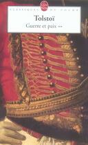 Couverture du livre « Guerre Et Paix Tome 2 » de Tolstoi-L aux éditions Lgf