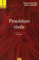 Couverture du livre « Procédure civile (16e édition) » de Gerard Couchez et Xavier Lagarde aux éditions Sirey