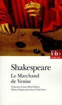 Couverture du livre « Le marchand de Venise » de William Shakespeare aux éditions Gallimard
