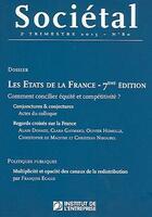 Couverture du livre « Revue Societal N.80 ; Les Etats De La France » de Revue Societal aux éditions Revue Bayard