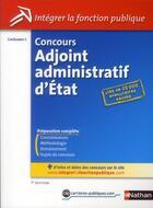 Couverture du livre « Concours adjoint administratif d'Etat ; catégorie C (édition 2012) » de Pascal Tuccinardi aux éditions Nathan