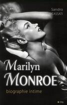 Couverture du livre « Marilyn Monroe, biographie intime » de Louise Livert aux éditions City