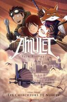 Couverture du livre « Amulet T.3 ; les chercheurs de nuages » de Kazu Kibuishi aux éditions Akileos