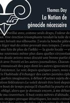 Couverture du livre « La notion de génocide nécessaire » de Thomas Day aux éditions Le Belial