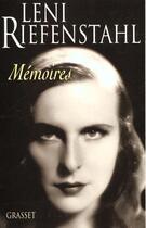 Couverture du livre « Memoires » de Leni Riefenstahl aux éditions Grasset Et Fasquelle