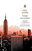 Couverture du livre « Trilogie new-yorkaise » de Paul Auster aux éditions Actes Sud