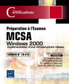 Couverture du livre « Windows 2000 ; implementation d'une infrastructure reseau » de Philippe Mathon aux éditions Eni