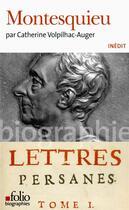 Couverture du livre « Montesquieu » de Catherine Volpilhac-Auger aux éditions Gallimard