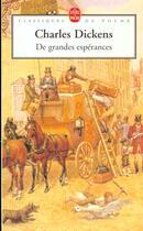Couverture du livre « De grandes espérances » de Charles Dickens aux éditions Lgf